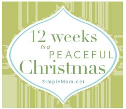 12 weeks till christmas on simple mom