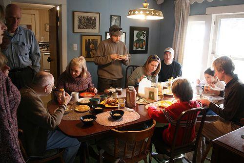 christmas family breakfast