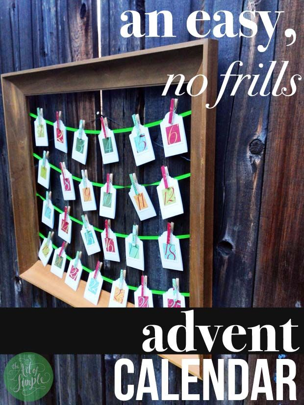 An easy, no-frills Advent calendar, on The Art of Simple