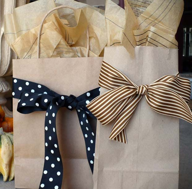 Brown bags for gift wrap