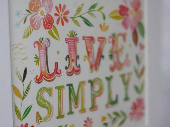 Live Simply print by Katie Daisy