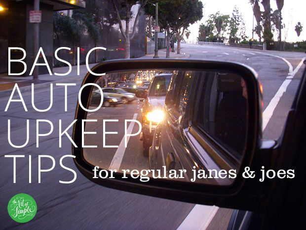 Simple tips to keep your car clean and maintained.