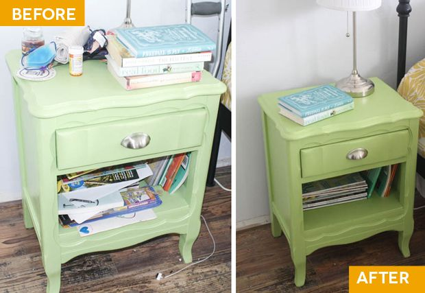 The first hotspot of Project Simplify on Simple Mom: drawers and shelves.