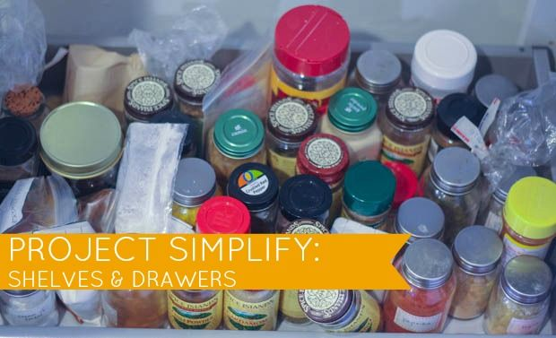 Week 1 of Project Simplify on Simple Mom: Drawers and Shelves