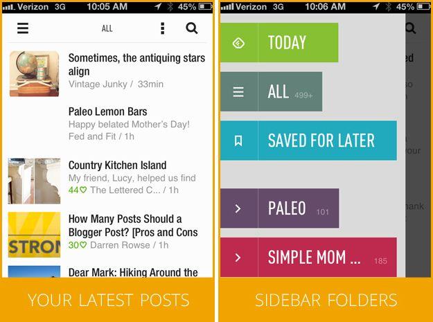 feedly mobile screenshots