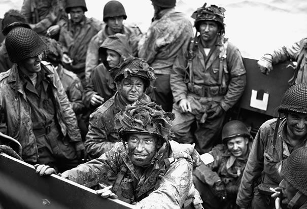 Allied troops on the D-Day landing