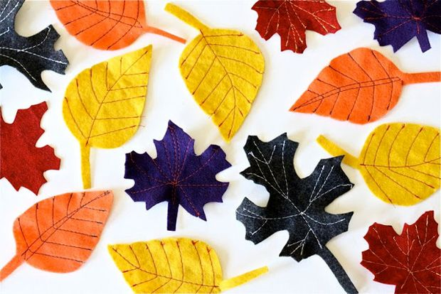Fall felt leaves from MADE