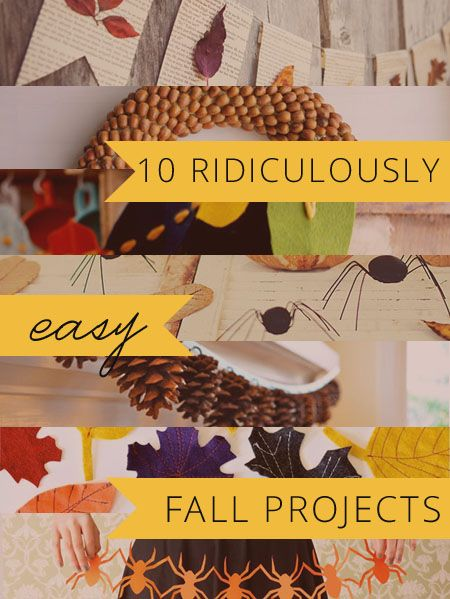 10 ridiculously easy fall projects