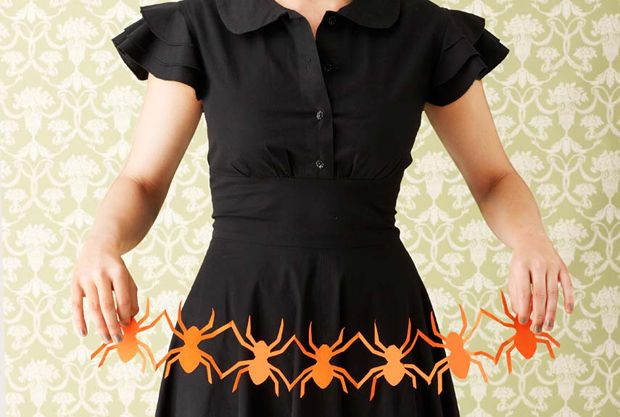 Spooky paper cutouts on Country Living