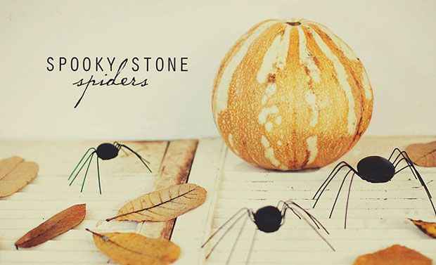 Spooky stone spiders from Simple as That