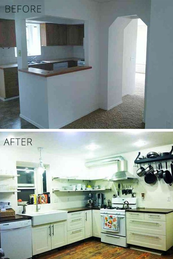 the kitchen, before and after