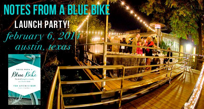 Launch party for Notes From a Blue Bike: all are welcome!