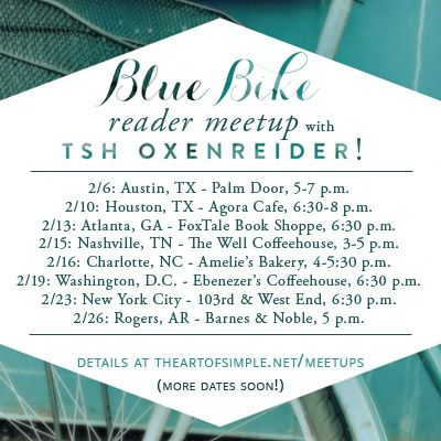 Blue Bike (and The Art of Simple) reader meetups!
