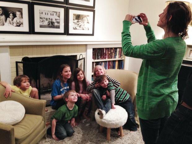 emily taking photos of kids