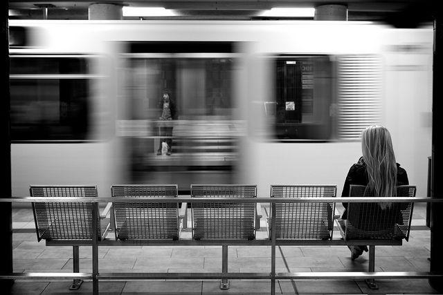 solo person at subway