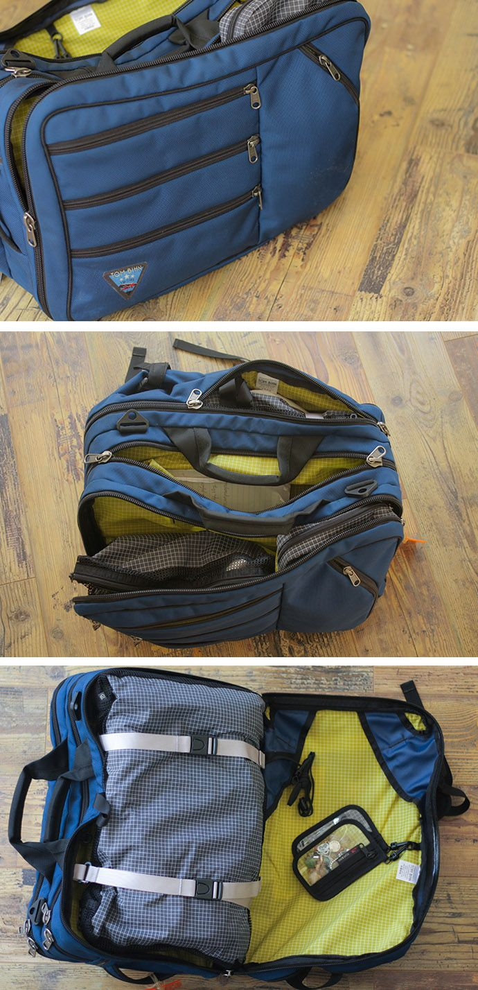 My favorite travel bag is the Tom Bihn Tri-Star