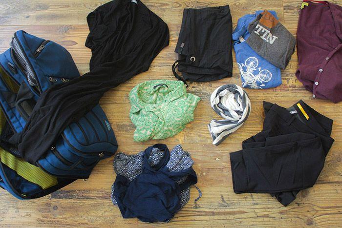 tips for packing light on short trips