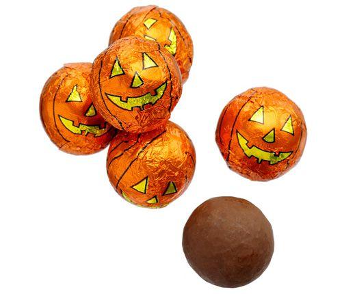 halloween milk chocolate pumpkin balls