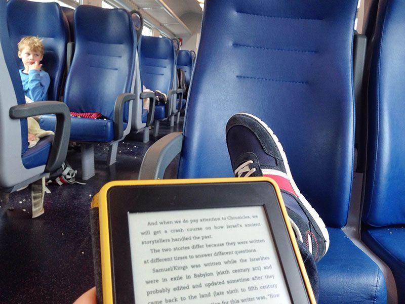 reading on train