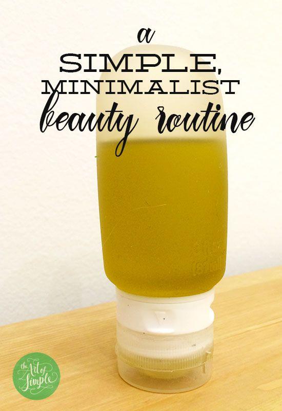 a simple, minimalist beauty routine