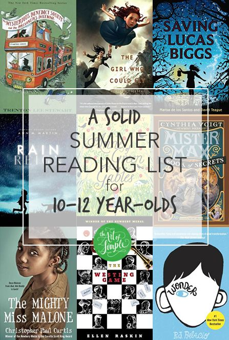 A solid summer reading list for 10-12 year-olds.