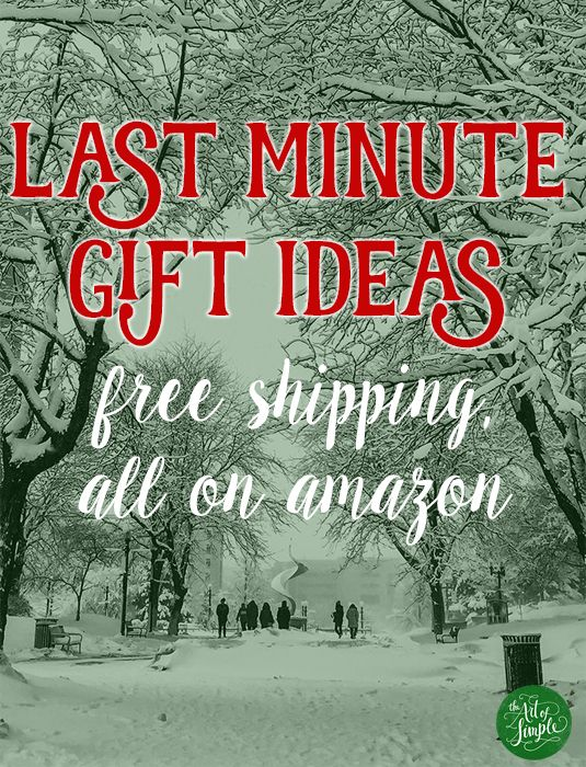 Last minute gift ideas, all with free shipping on Amazon.