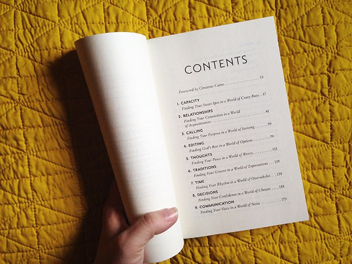 Breaking Busy table of contents