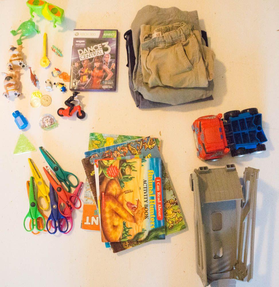 Decluttering kid stuff: keep it simple.