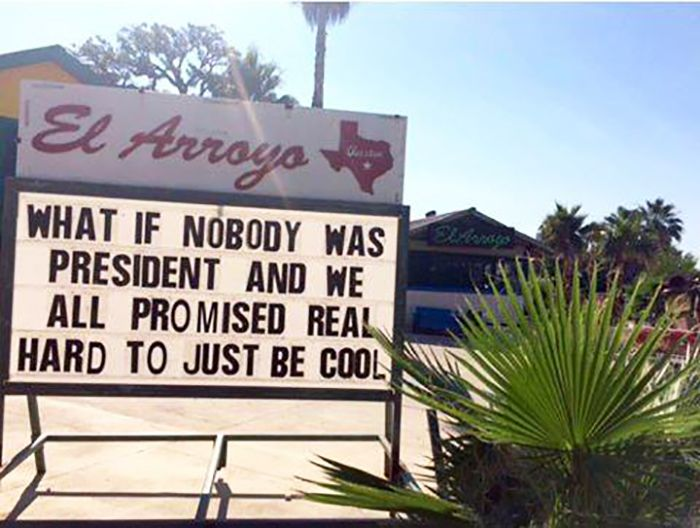 el arroyo sign what if nobody was president