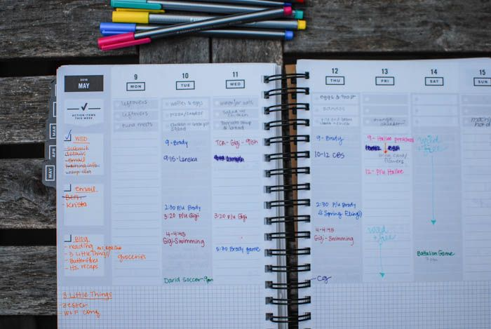 Combining bullet journaling with a planner