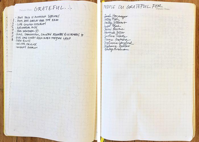 bullet journal grateful